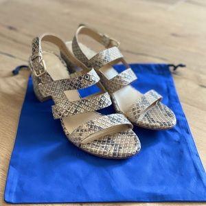 Stuart Weitzman snakeskin style sandal. GUC